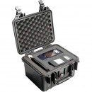 Pelican 1300 hard carry case. Black. (23.3 x 17.8 x 15.5 cm) PRICE INCLUDES VAT & SHIPPING.