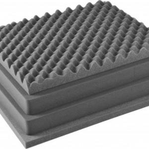 Pelican 1601 4 piece foam replacement set for Pelican 1600 case