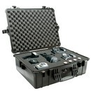 Pelican 1600 hard carry case. Black. (54.4 x 41.9 x 20 cm) PRICE INCLUDES VAT & SHIPPING.