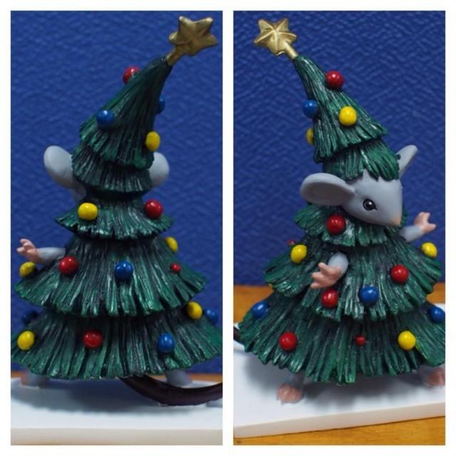 Christmas Tree Mouse Figurine