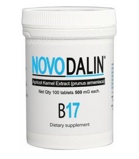 Novodalin B17 500mg 100 tablet(아미그달린 비타민 B17 500mg 100정 1병) images