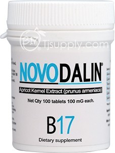 Novodalin B17 100mg 100 tablet(아미그달린 비타민 B17 100mg 100정 6병) images
