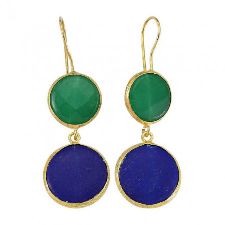 Dangle Anniversary Gemstone Mint Earring