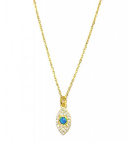 Opal Blue Wholesale Turkish Evil Eye Necklace
