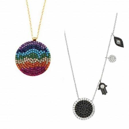 Wholesale Turkish Evil Eye Hamsa Design Necklace