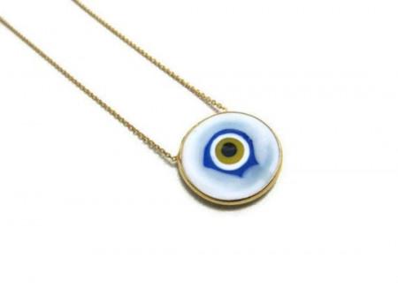 White round evil eye wholesale necklace