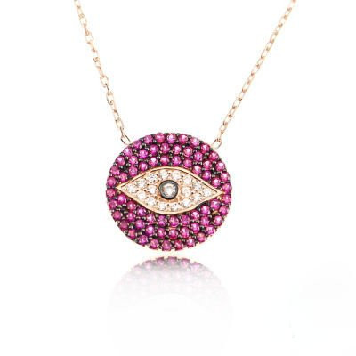 Cz Evil Eye Turkish Necklace Wholesale Silver 925