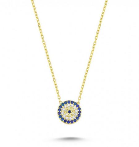 Round Blue Wholesale Turkish Evil Eye Necklace