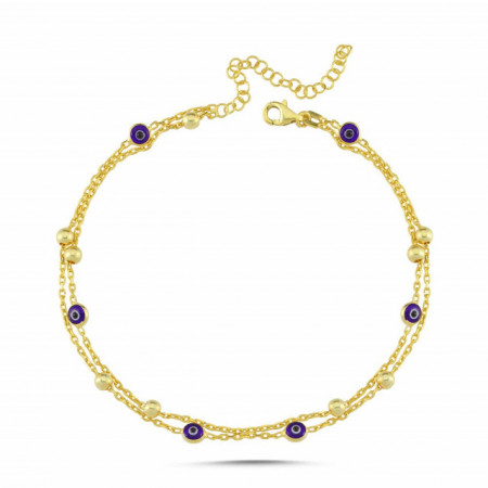 Wholesale Evil Eye Turkish Beads Silver 925 Charm Bracelet