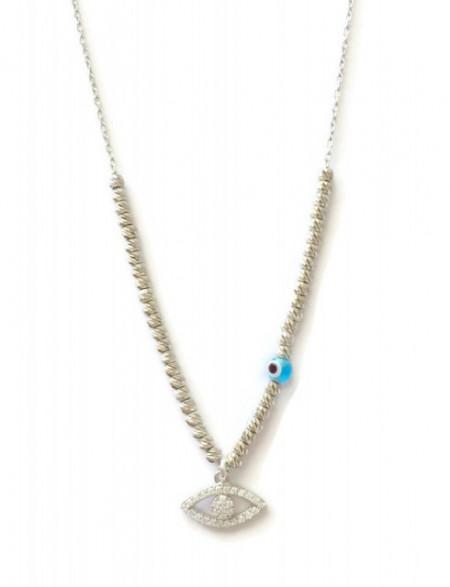 wholesale bead evil eye necklace