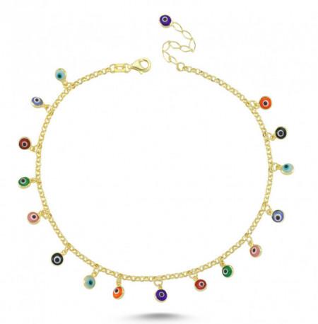 Wholesale anklet evil eye silver bracelet
