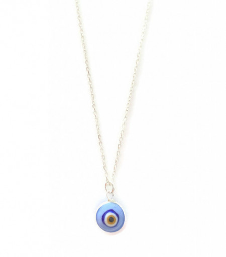 Blue Turkish Evil Eye Necklace Wholesale 925 Silver