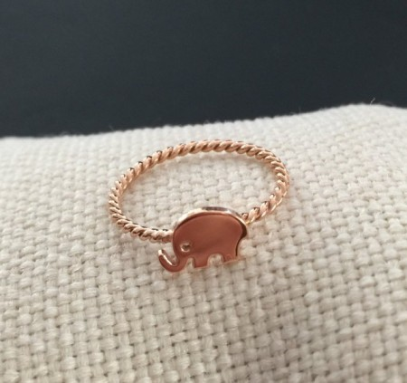 Turkish Rings Wholesale Rose Gold Elephant Minimal Silver 925