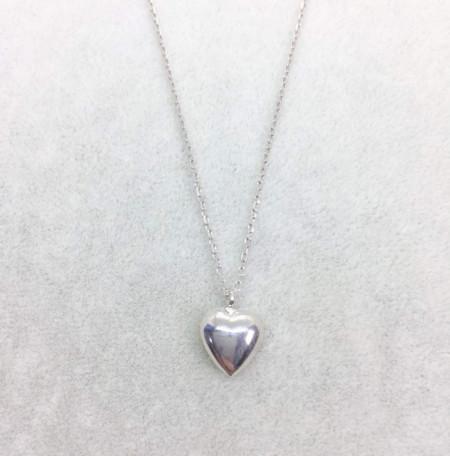 Wholesale 925 Silver Turkish Silver Plain Heart Necklace Pendant