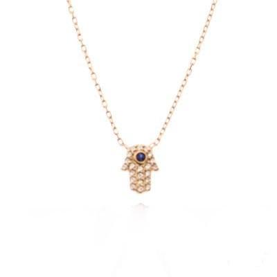 Hamsa Evil Eye Wholesale Sterling Silver Necklace