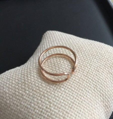 Turkish Rings Wholesale Rose Gold Minimal Design Silver 925