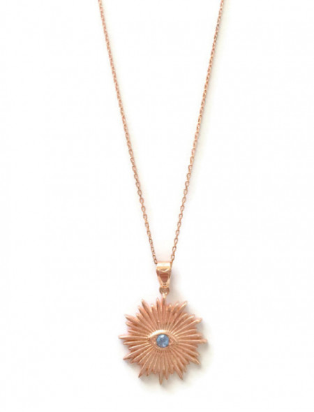 wholesale sunburst evil eye necklace