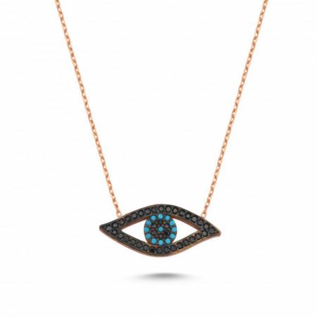 Evil Eye Turkish Wholesale Sterling Silver Necklace