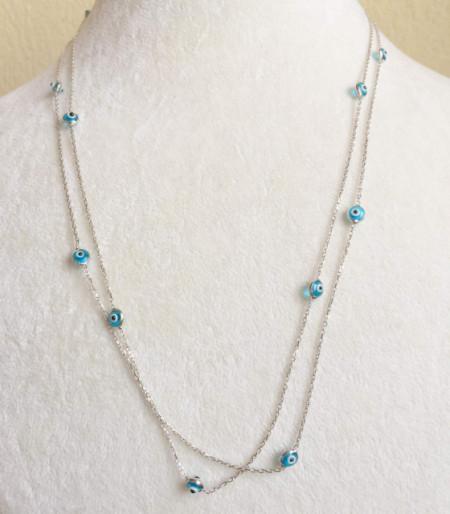 beaded evil eye turkish necklace wholesale