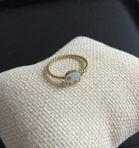 Turkish Rings Wholesale Yellow Gold Elephant Minimal Design Silver 925