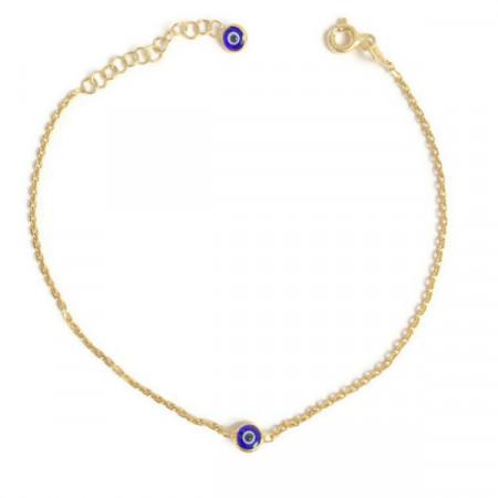 Wholesale Sterling Silver 925 Evil Eye Beaded Bracelet