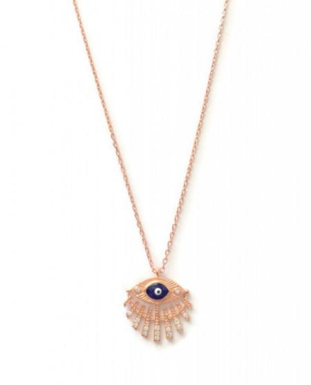 dark blue wholesale evil eye necklace