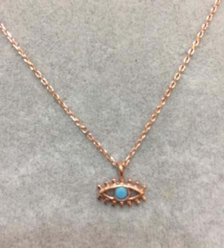 Blue Evil Eye Wholesale Necklace Rose Gold Plated Pendant