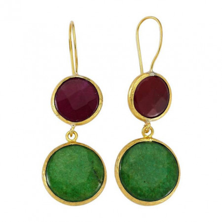 Dangle Anniversary Gemstone Mint Earring