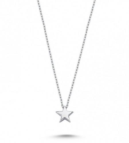 Plain Star Necklace Pendant Wholesale Sterling 925 Silver