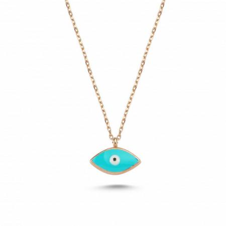 Turquise Evil Eye Mini Necklace Wholesale Silver 925
