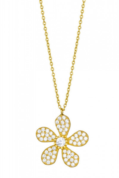 Wholesale 925 Silver Flower Necklace
