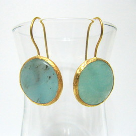Dangle Anniversary Gemstone Mint Earring images