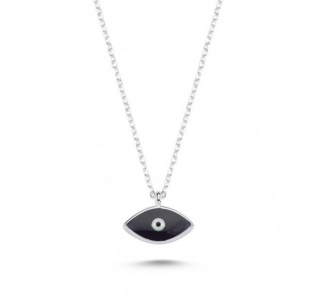 Dark Blue Evil Eye Mini Necklace Pendant Wholesale Silver 925