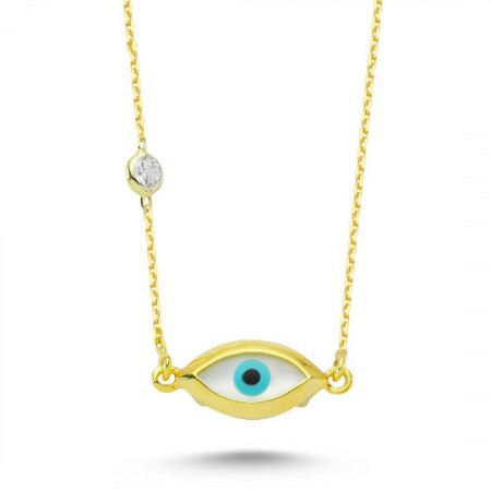 Mother of Pearl Evil Eye Wholesale Necklace