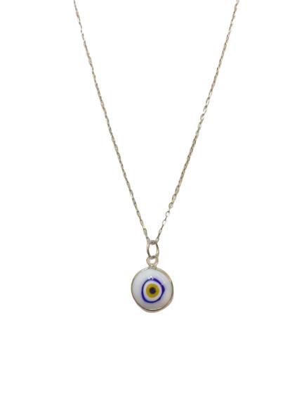 Turkish White Eye Beads Wholesale 925 Silver Necklace