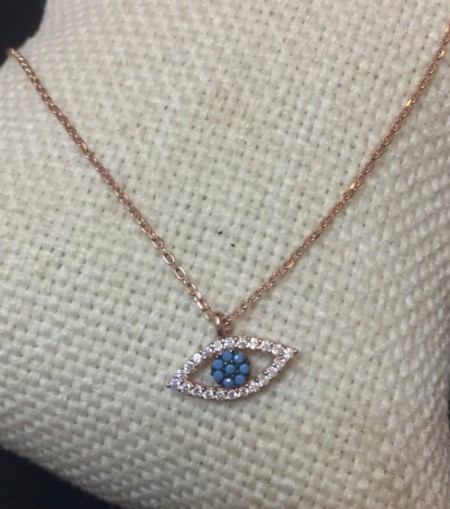 Wholesale Turkish Evil Eye Necklace Rose Gold Silver Pendant