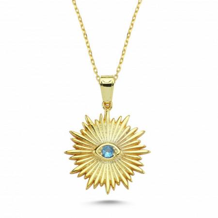 Wholesale Turkish Sunburst Evil Eye Necklace