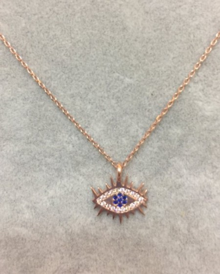 Evil Eye Wholesale Necklace Rose Gold Plated Pendant