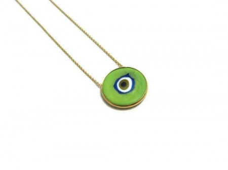 green evil eye wholesale turkish necklace