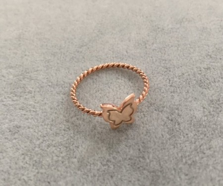 Turkish Rings Wholesale Butterfly Minimal Rose Gold Silver 925 images