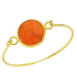 Handmade Natural Stone Bangle Free Size images
