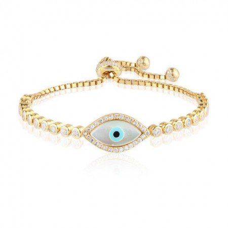 tennis design evil eye turkish bracelet