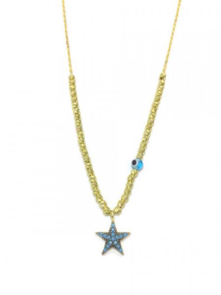Star Design Wholesale Turkish Evil Eye Necklace