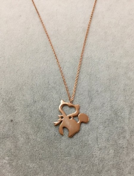 Cat Pendant Necklace Sterling Silver Wholesale Rose Gold