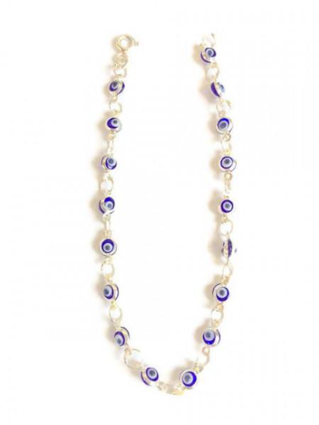 Mini Evil Eye Bracelet Beads Charm Wholesale Turkish Silver