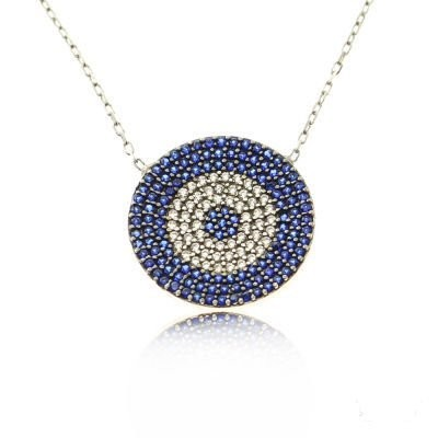 Wholesale Handmade Turkish Evil Eye Silver Necklace images