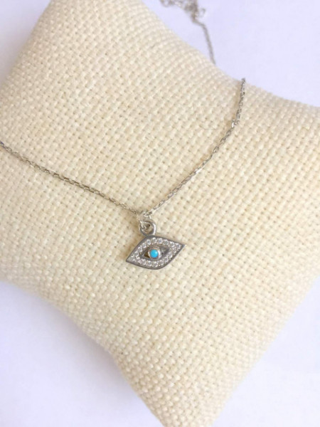 Wholesale Mini Evil Eye Silver 925 Turkish Necklace