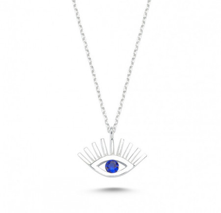 Wholesale Turkish Evil Eye Necklace Silver 925