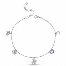 Anklet Charm Bracelet Wholesale Turkish Sterling Silver