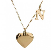 Letter N Heart Design Turkish Wholesale Silver Necklace